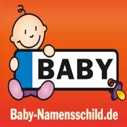 Baby Namensschild